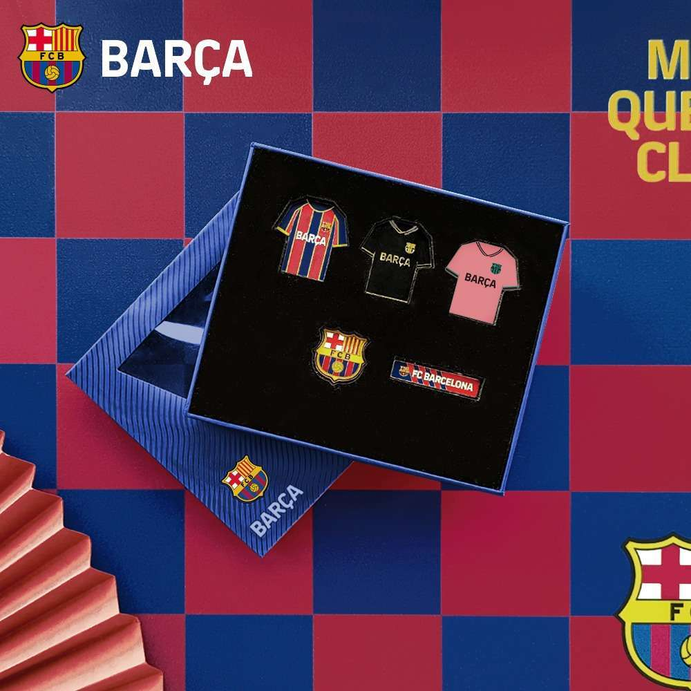 Barça FC Barcelone Brooches Collection