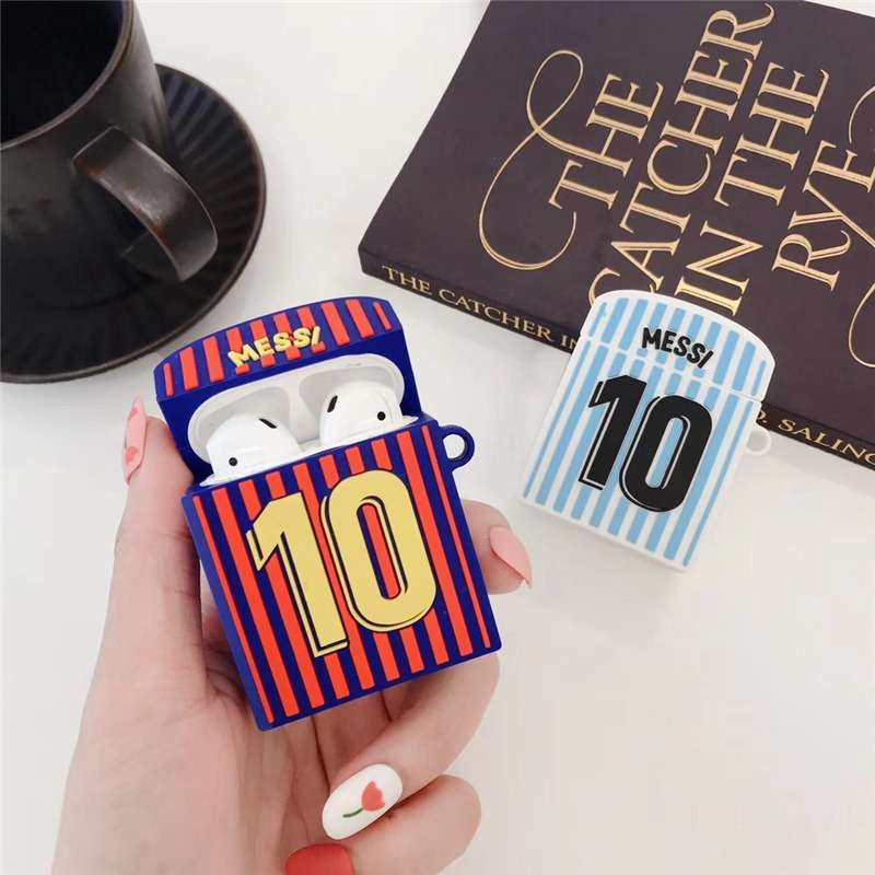 Messi Argentina Barcelona Apple AirPods Protective Silicone Covers