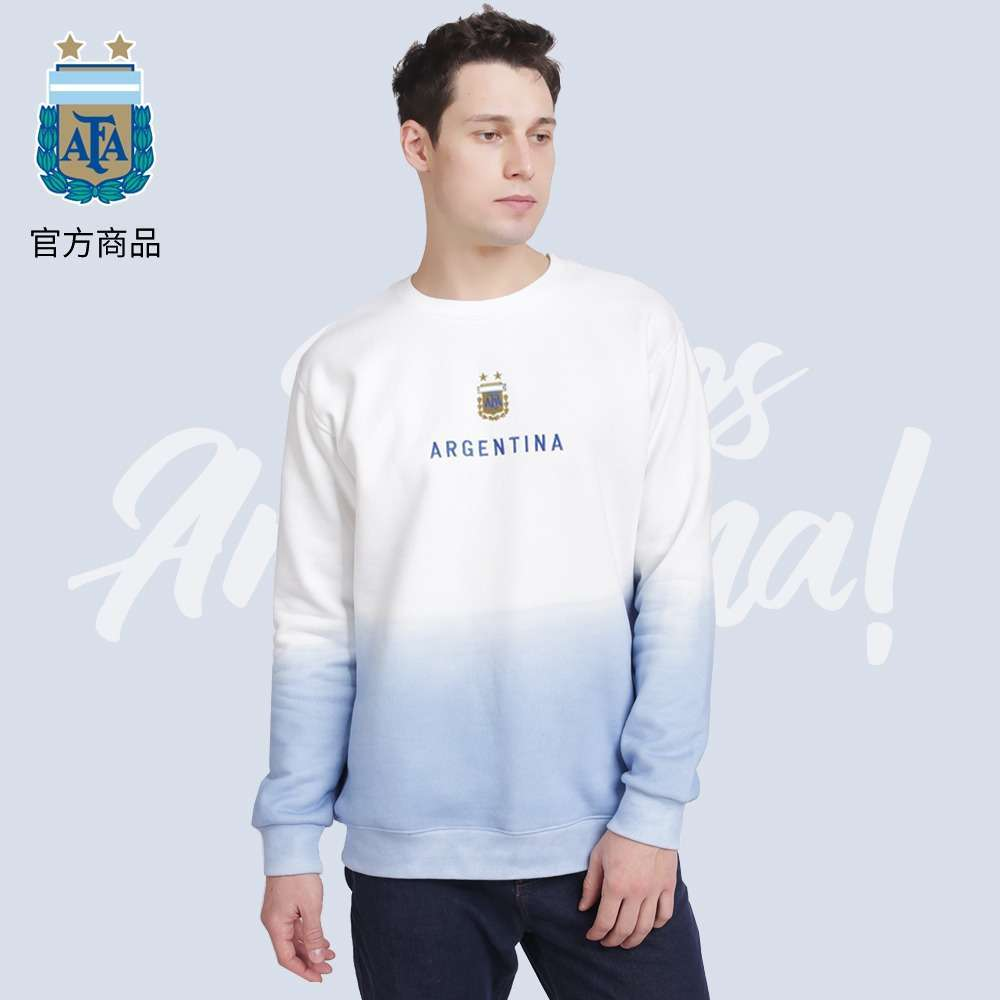 Argentina National Team Tie-dye Cotton Pullover Sweater