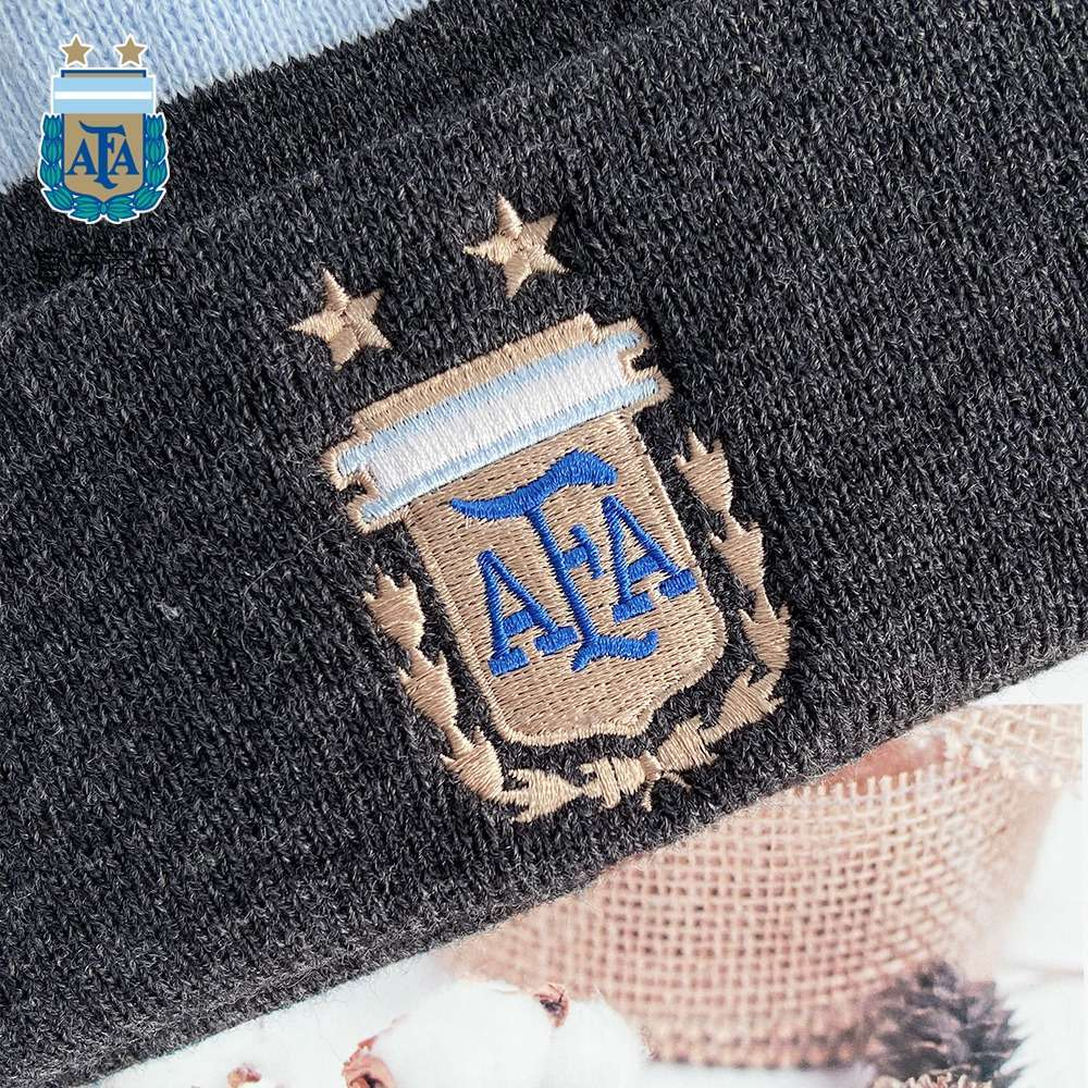 Argentina National Team Black Grey Winter Knitted Hat