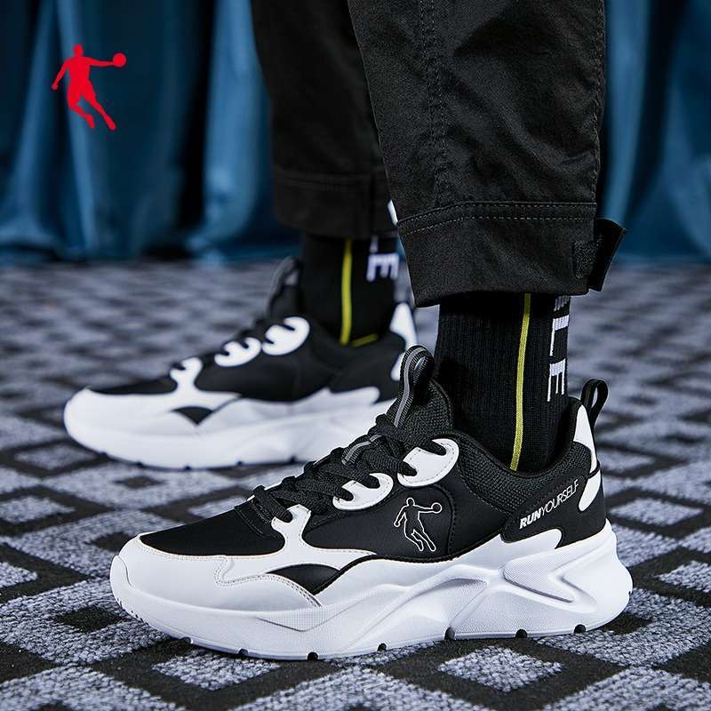 Jordan Mens Leather Breathable Fashion Athleisure Sneakers